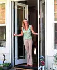 Enjoy the outdoors indoors with a retractable screen door